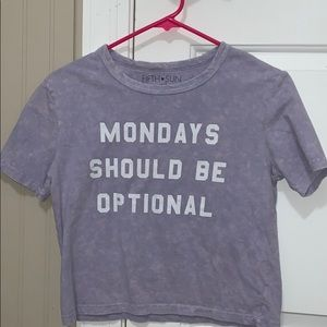 woman's purple shirt